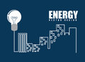 Energy design over blue background vector illustration Stock Images