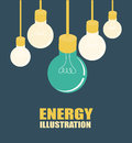Energy design over blue background vector illustration Royalty Free Stock Photography