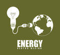 Energy design over green background vector illustration Stock Image