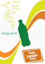Energy drink design vector Stock Photography