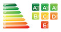 Energy efficiency class badges and graphic Stock Images