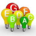 Energy efficiency concept with light bulbs Royalty Free Stock Photography