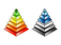 Energy efficiency and environmental impact rating pyramids eps Stock Photos