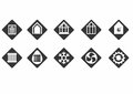 Energy efficiency icons on white background isolated Stock Images