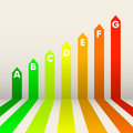 Energy efficiency rating detailed illustration of an background Royalty Free Stock Photos