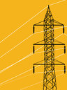 Energy electrical pylon Royalty Free Stock Photography