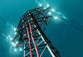 Energy and electricity concept pylon of Royalty Free Stock Photography