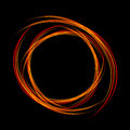 Energy frame. Shining circle banner. Magic light neon energy circle. Glowing fire ring trace. Royalty Free Stock Photo