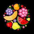 Energy fruit background for your design Royalty Free Stock Image