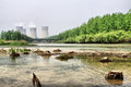Energy generation and environment damage Royalty Free Stock Photo