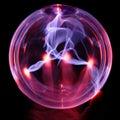 Energy globe, with hand Royalty Free Stock Photo
