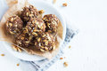 Energy granola bites Royalty Free Stock Photo