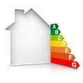 Energy and house d rendered Stock Image
