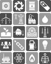 Energy icons Royalty Free Stock Image