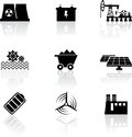 Energy icons Stock Photo