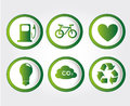 Energy icons over gray background vector illustration Royalty Free Stock Image