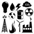 Energy icons over white background vector illustration Stock Images