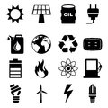 Energy icons over white background vector illustration Stock Photo