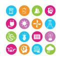 Energy icons power and in colorful round buttons Stock Image