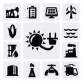 Energy industry icon Royalty Free Stock Photo