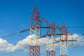 Energy power grid tower Stock Photography
