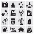 Energy and power icons Royalty Free Stock Photo