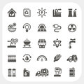 Energy and power icons set eps don t use transparency Royalty Free Stock Photo