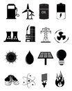Energy And Power Source Icons Set