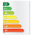 Energy rating elements Royalty Free Stock Photo