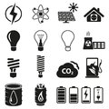 Energy resource icon set vector illustration Royalty Free Stock Image