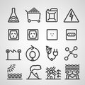 Energy and resource icon set vector illustration Royalty Free Stock Photo