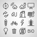 Energy and resource icon set vector illustration Stock Photography