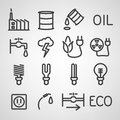 Energy and resource icon set vector illustration Stock Images