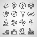 Energy and resource icon set vector illustration Royalty Free Stock Images