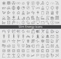 Energy and resource icon set vector illustration Stock Photos