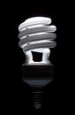 Energy saving compact fluorescent lightbulb Royalty Free Stock Photo