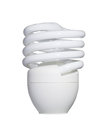 Energy saving fluorescent light bulb isolated on white with clip clipping path Royalty Free Stock Photo