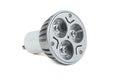 Energy saving LED light bulb on white background Royalty Free Stock Photo