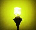 Energy saving light bulb ideas Stock Photography