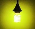 Energy saving light bulb ideas Royalty Free Stock Images