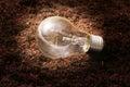 Energy saving light bulb ideas Royalty Free Stock Photography