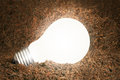Energy saving light bulb ideas Royalty Free Stock Photo