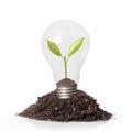 Energy saving light bulb ideas Royalty Free Stock Photos