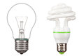 Energy saving light bulbs Royalty Free Stock Photos