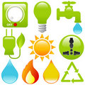 Energy Saving, water, electricity, s Royalty Free Stock Photos
