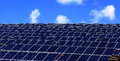 Energy series of photovoltaic panels for renewable Royalty Free Stock Image