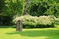 The energy stone at the Hofgarten park in Innsbruck, Austria Royalty Free Stock Photo