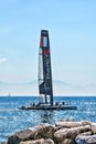 Energy team catamaran france in naples during america s cup world series Stock Photography