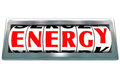 Energy Word Odometer Fuel Power Rising Royalty Free Stock Photo