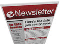 ENewsletter Issue Email Information Royalty Free Stock Photography